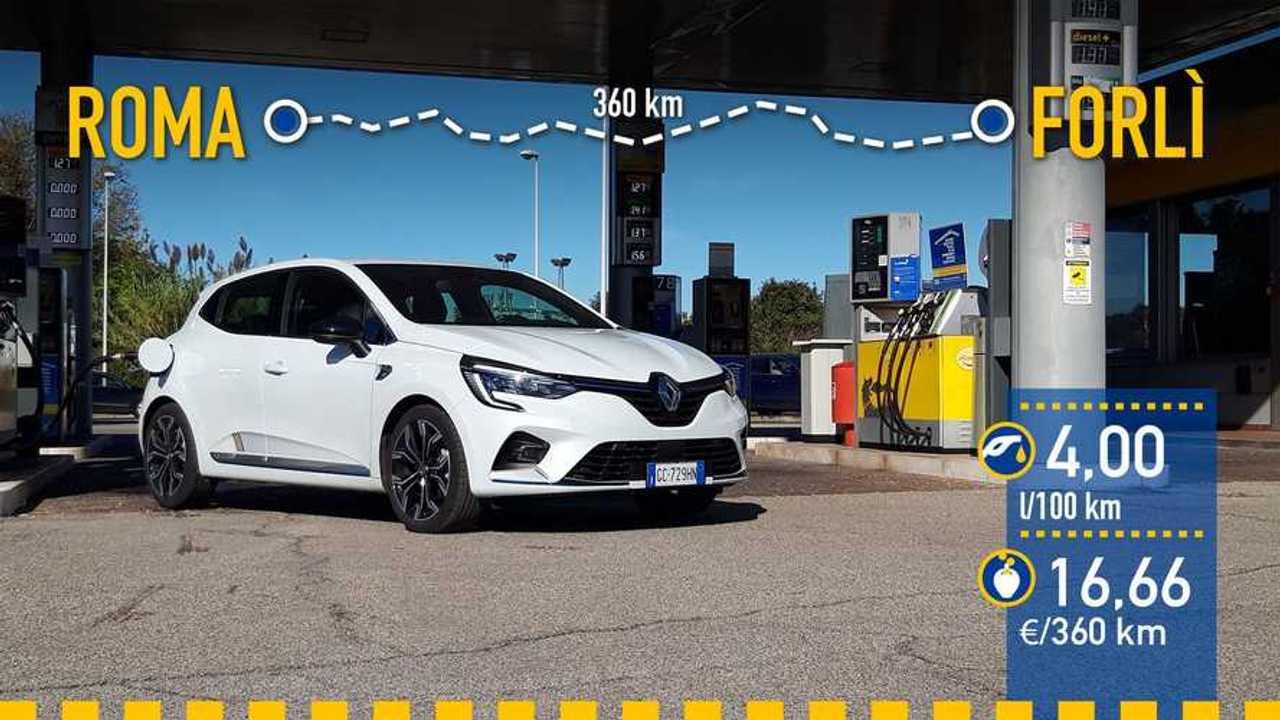 Renault Clio E-TECH 2020, prueba de consumo