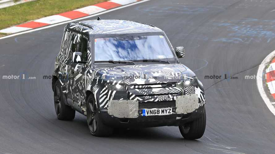 2020 Land Rover Defender spied leaning through the Nürburgring
