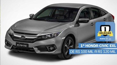 Seleção Motor1.com 2019: Honda Civic EXL vence categoria de R$ 100 mil a R$ 120 mil