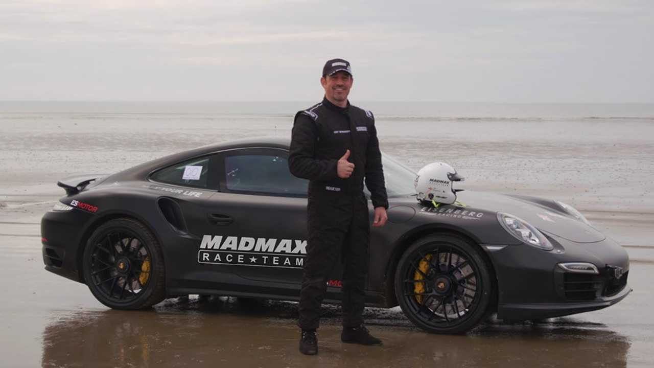 Sand speed world record