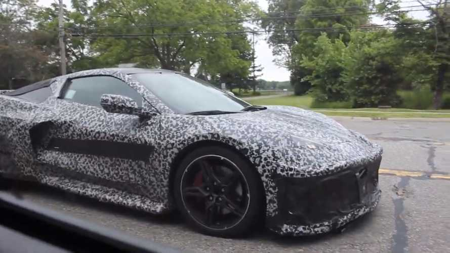 Mid-Engined C8 Corvette Caught On Video Cruising Cars & Coffee