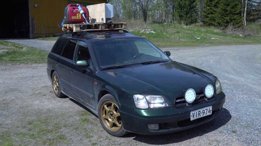 Subaru Legacy Wagon With Household AC Is Literally Cool