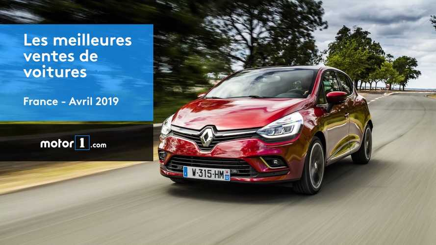 VIDÉO - Les 10 voitures les plus vendues en avril 2019 en France