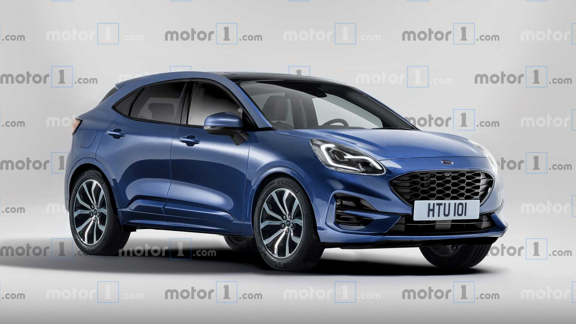 2021 Ford Puma Spy Photos, Release Date >> 2020 Ford Puma Render Based On Teaser Previews The Fiesta Suv