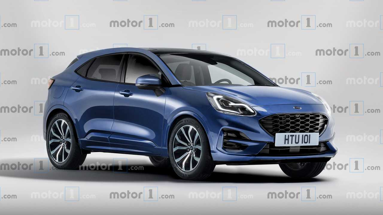 Nuova Ford Puma rendering 2019