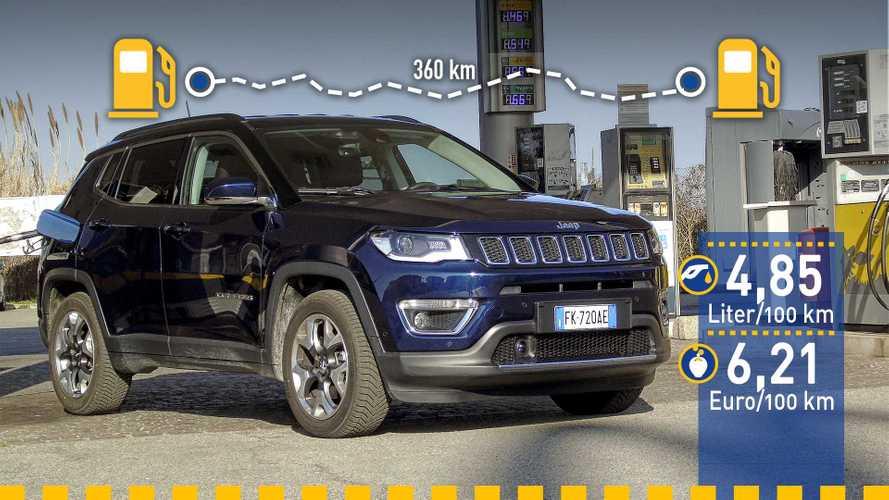 Tatsächlicher Verbrauch: Jeep Compass 1.6 Multijet im Test