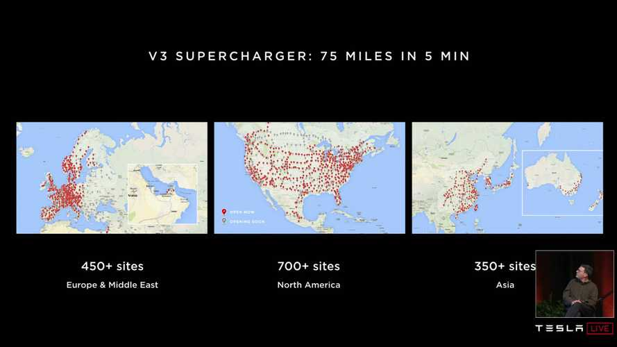 Tesla Is Deploying V3 Superchargers Around The World