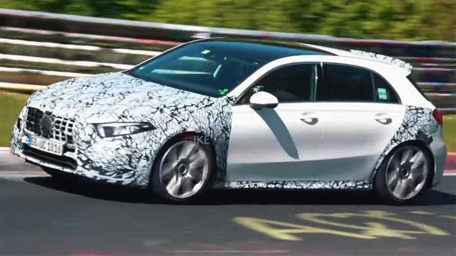 See Mercedes-AMG A45 Spied Going Berserk At The Nürburgring