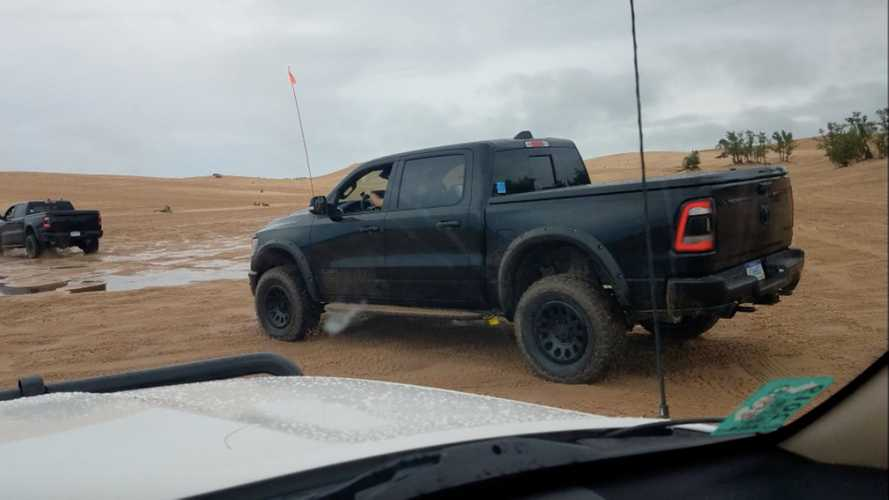 Watch Ram's Hellcat-Powered Rebel TRX Being Run Up Sand Dunes
