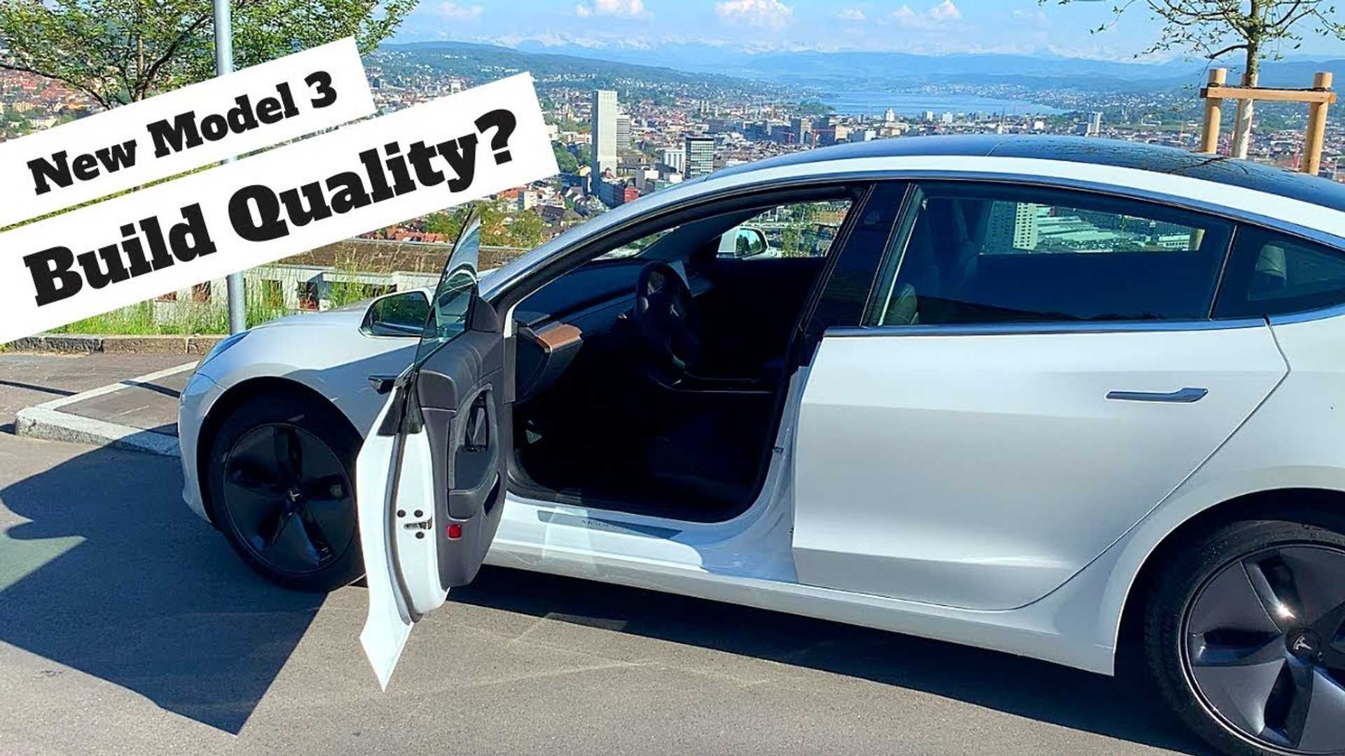 It Seems Tesla Model 3 Build Quality Has Improved Vastly: Video