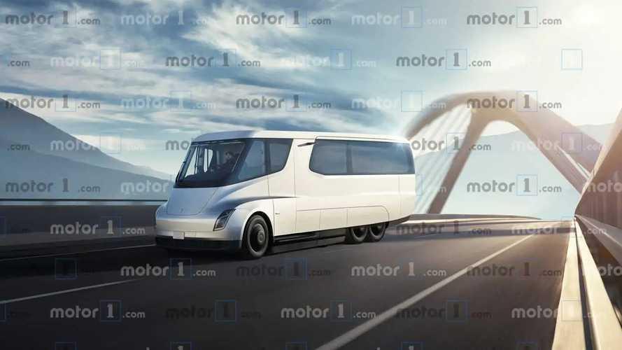 Tesla Motorhome recreación