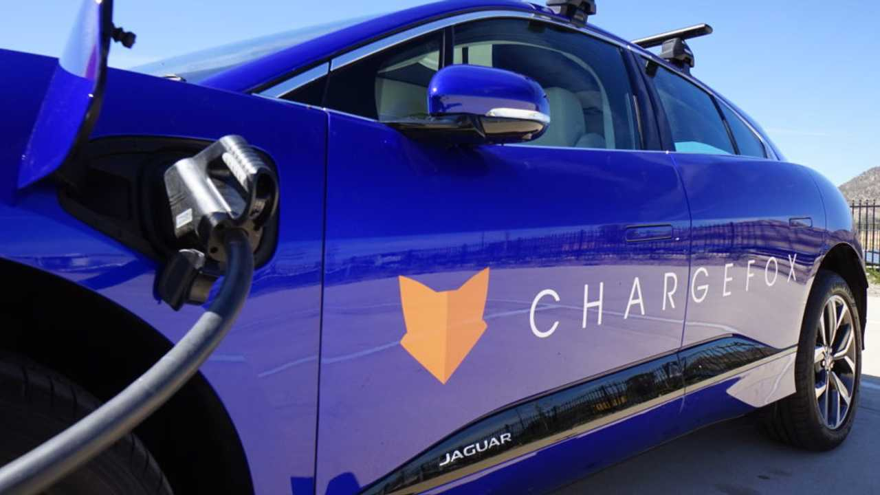 Jaguar I-PACE charging at Chargefox in Australia