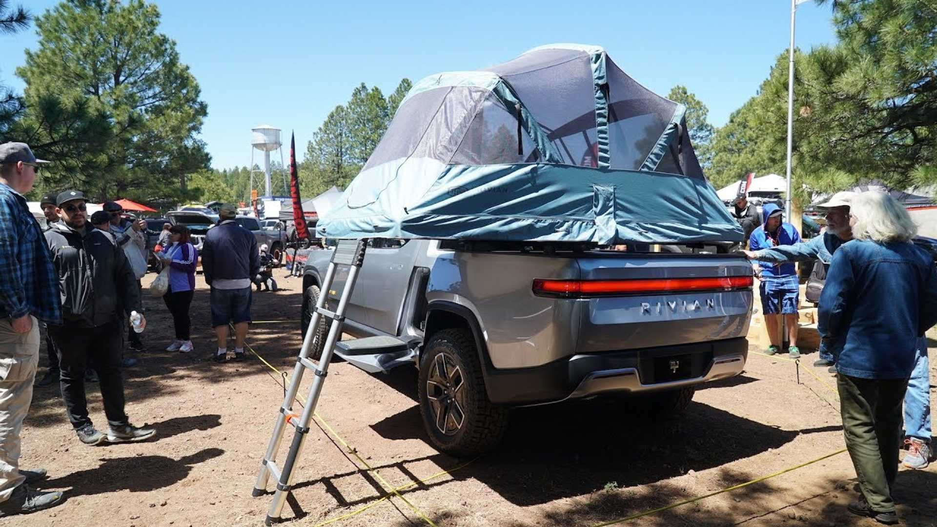 Rivian R1T Electric Pickup Truck Walk Around Video From Overland