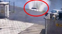woman drives into river video