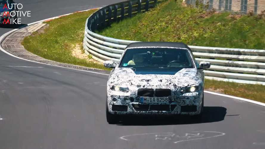 BMW 4 Series Convertible Spy Screenshots