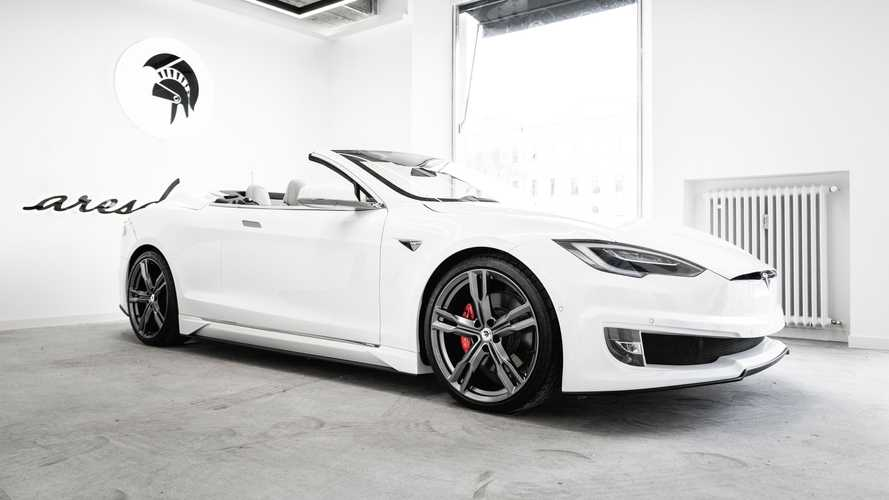 Hold on to your hats: Coachbuilder creates convertible Tesla Model S