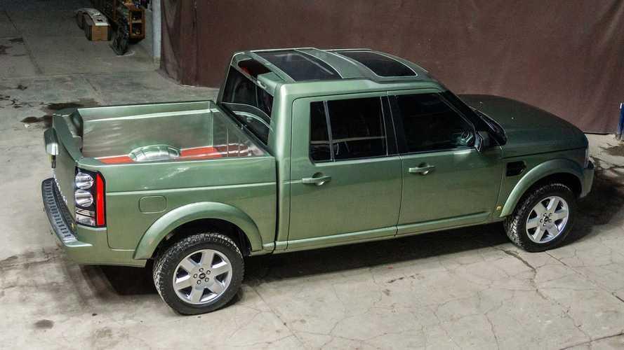 ¡Alucina con este Land Rover Discovery 4 convertido en pick-up!