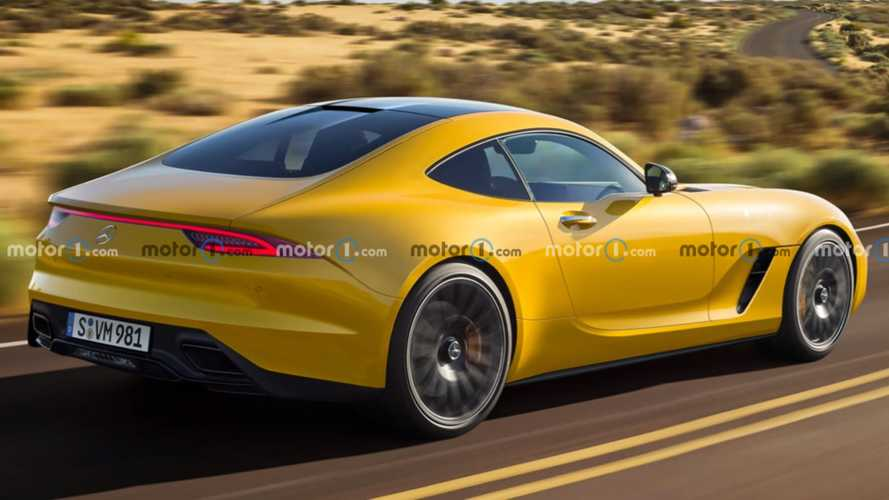 Next-gen Mercedes-AMG GT rendered showing off sharper rear styling