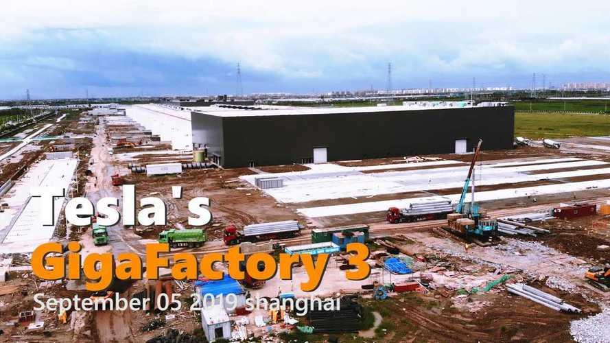 Tesla Gigafactory 3 Construction Progress September 5, 2019: Video