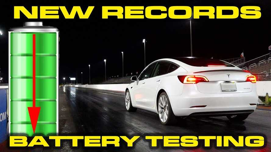 Tesla Model 3 Performance Low Battery Testing, Plus New S & 3 Records