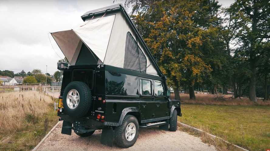 Land Rover Defender tabanlı kampçı, istediğiniz her şeyi yapabilecek