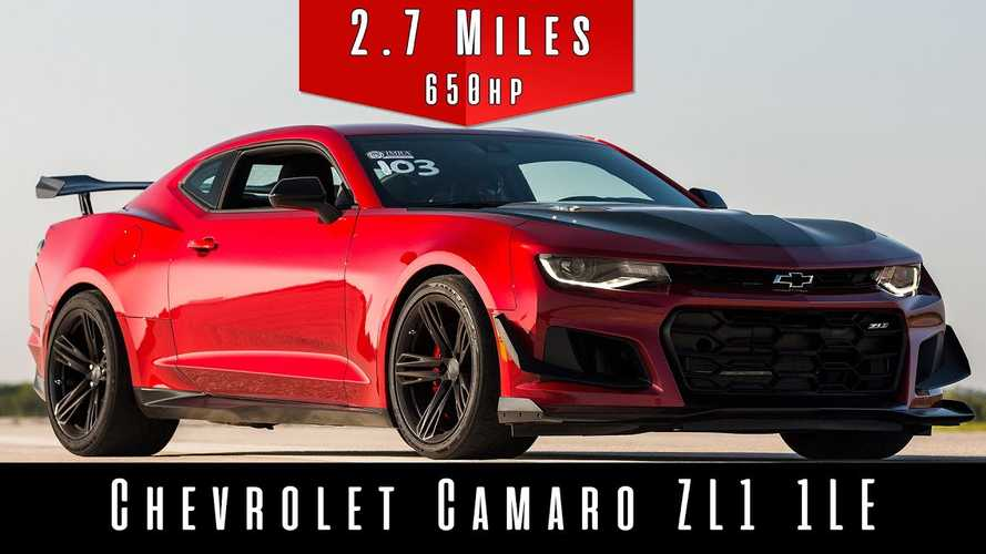 See This 2019 Chevy Camaro ZL1 1LE Use All 650 HP In Top Speed Run