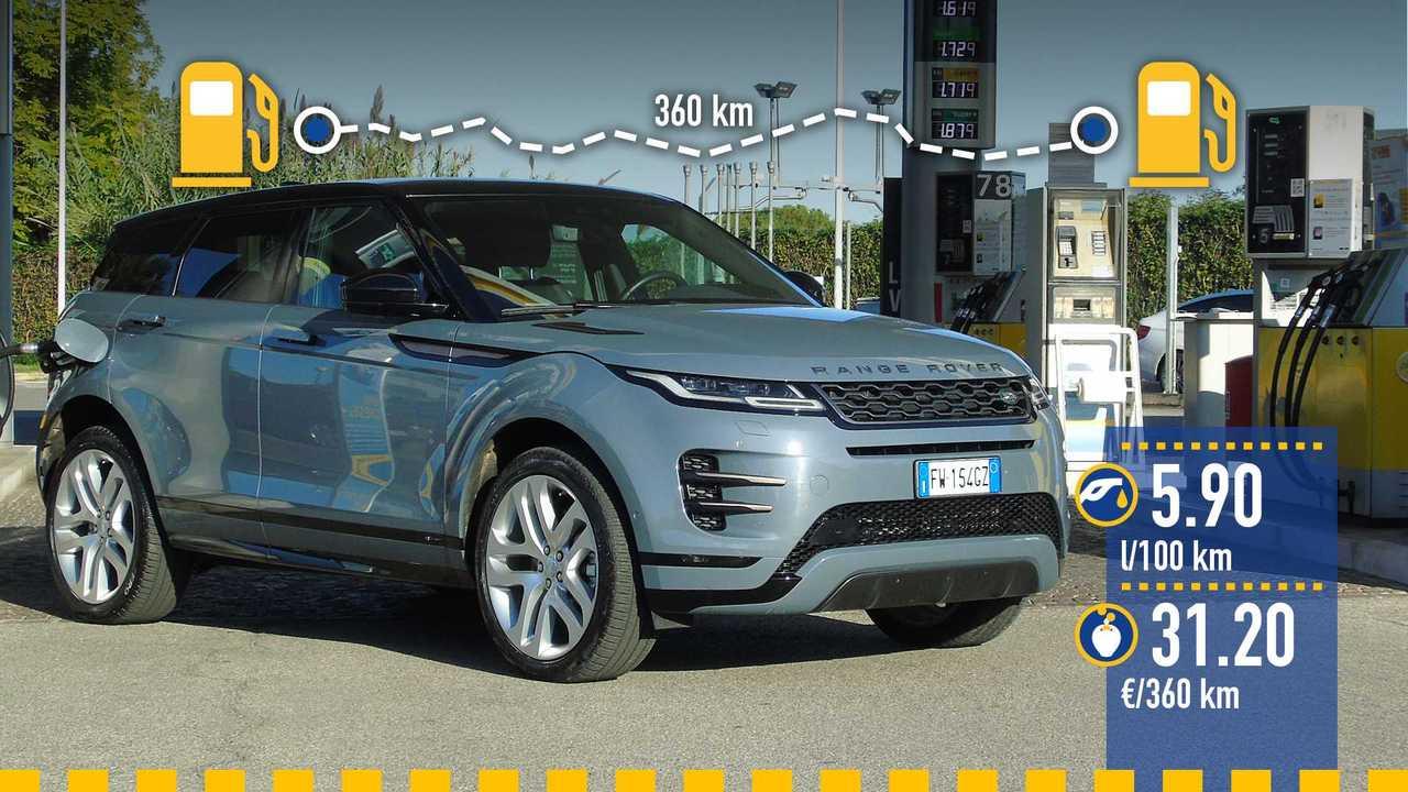 Range Rover Evoque diesel, la prova consumi