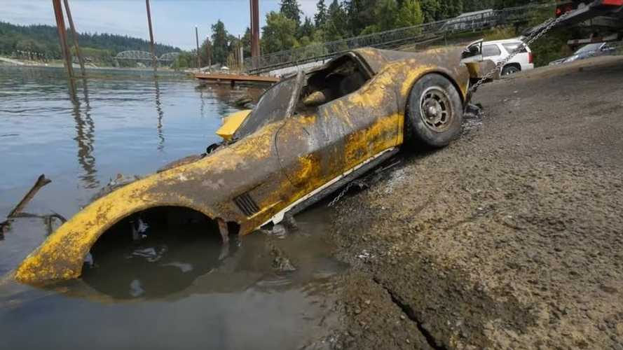 Pond Find: Divers Pull Out Chevy Corvette Submerged For Decades