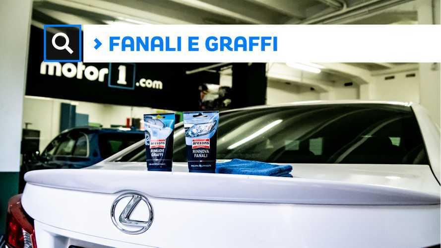 Pulizia auto, come rinnovare i fanali e rimuovere i graffi