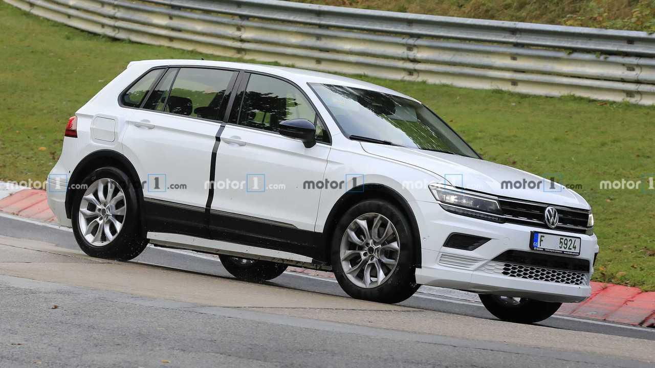 Skoda Electric Vehicle Mule Spied Testing Underneath VW Tiguan Skin