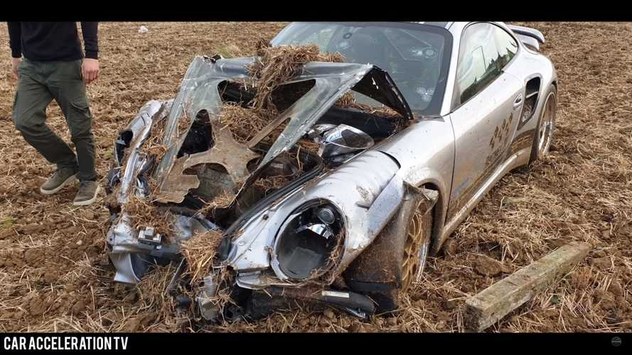 Tuned Porsche 911 crash