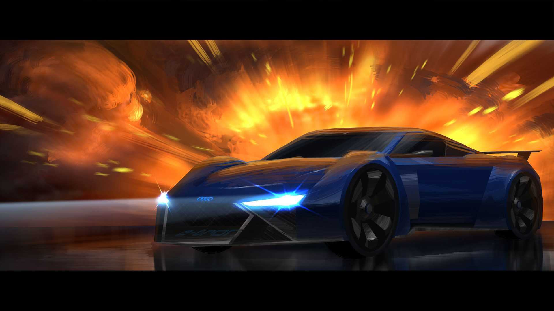Audi RSQ E-Tron Is An Animated Spy Car You'll Never Drive
