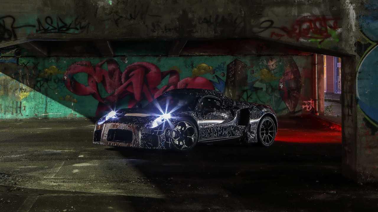 The new super sports Maserati, spy photos