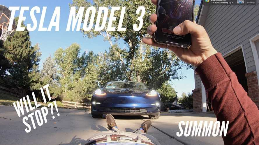 Is Tesla Summon Mode Smart Enough To Detect A Guy Who Lies? Video