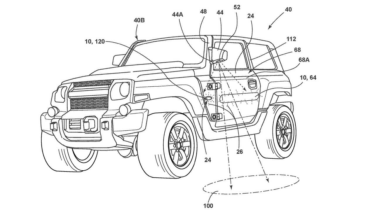 Ford Bronco Side Mirrors A-Pillar