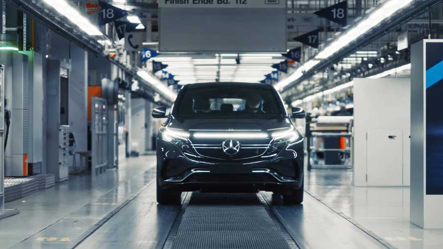 Mercedes-Benz Presents EQC Production At Bremen: Video