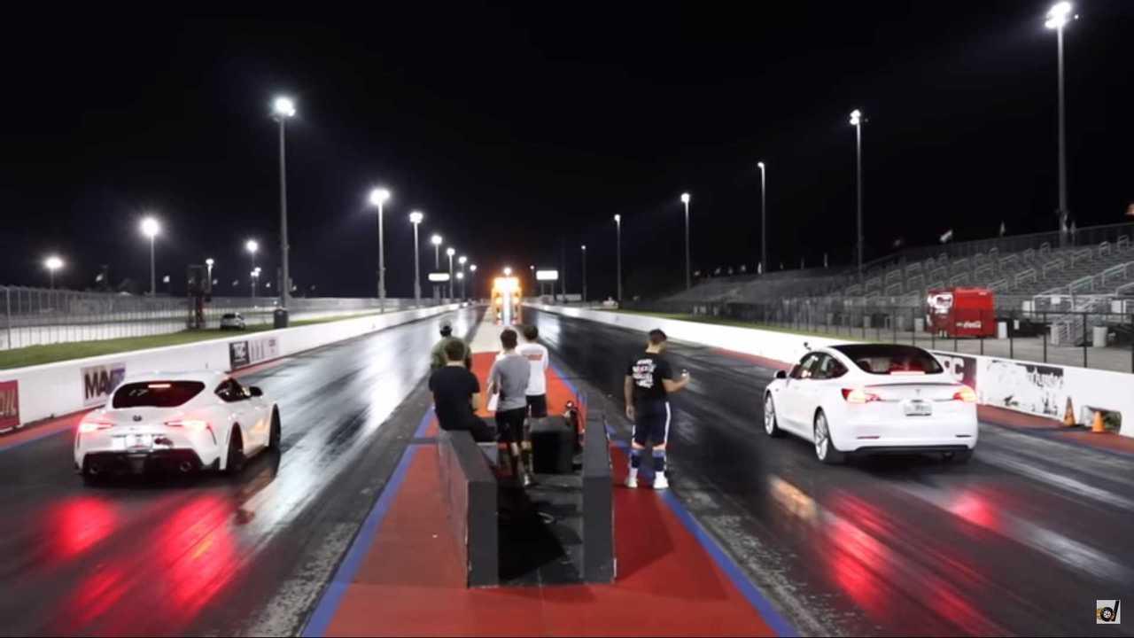 Tesla Model 3 Performance VS Toyota Supra