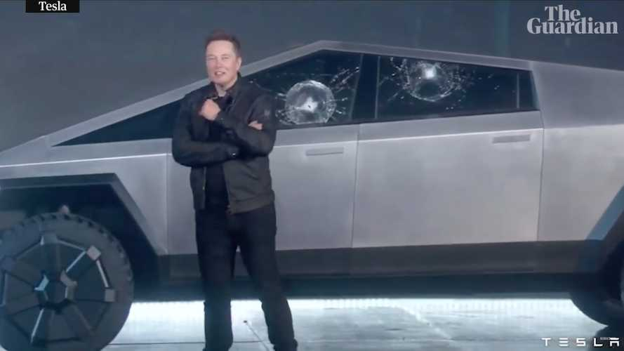Watch The Moment Tesla's Perfect Cybertruck Reveal Was Shattered
