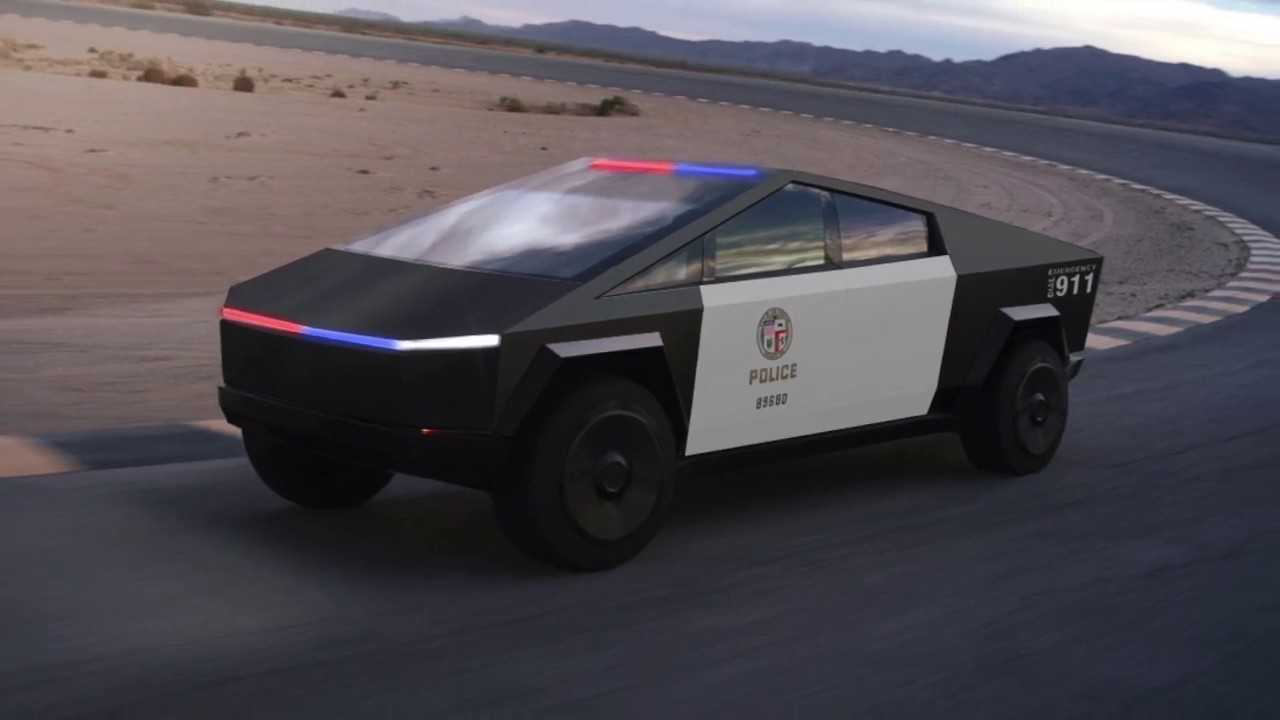 Tesla Cybertruck Could Be Perfect For Police, Fire, Water ...