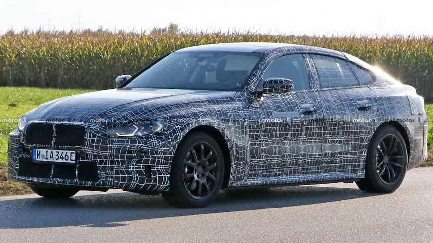 BMW i4 Spied Wearing Some Production-Spec Parts
