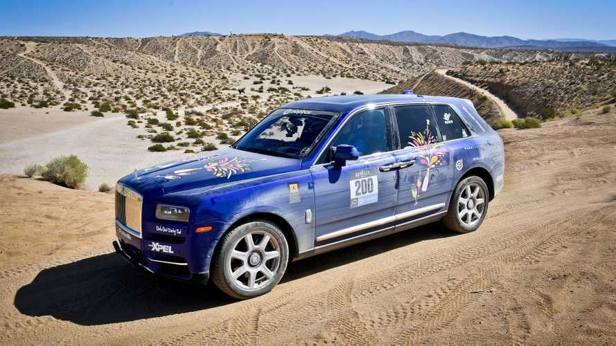 Rolls royce cullinan proves victorious in all female off road rebelle rally