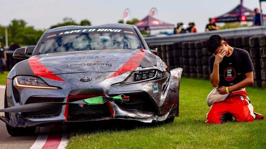 Toyota Supra 2020 choca en pista, las consecuencias son desgarradoras