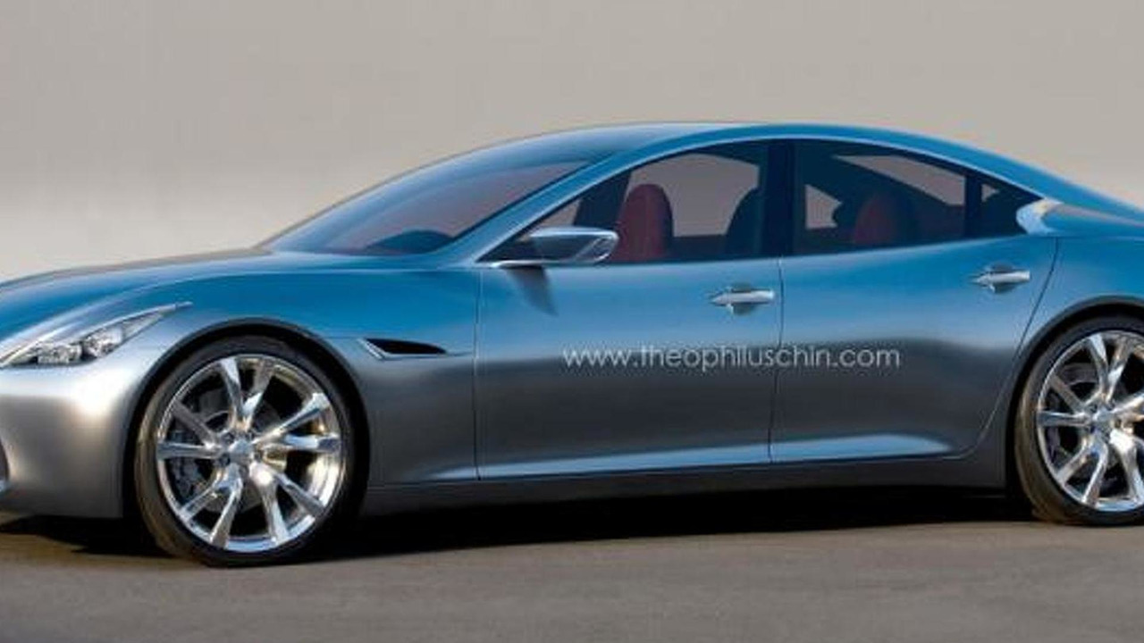 Infiniti four-door coupe artist rendering