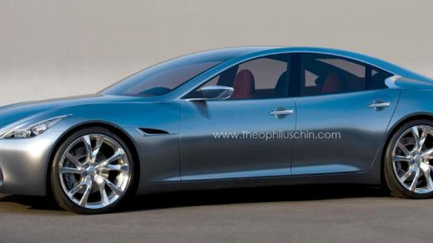 Infiniti four-door coupe rendered