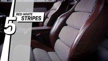 Modèles de siège Porsche Top 5 - Rayures rouges et blanches