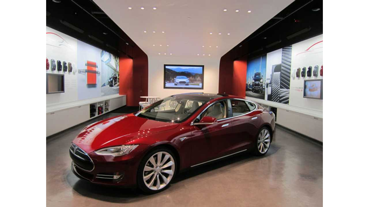 Typical Tesla Store