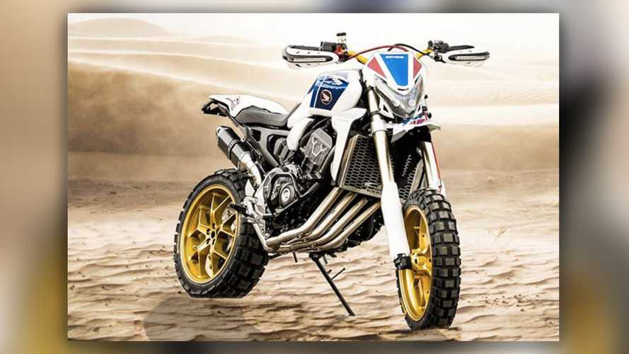 What The Africa Twin Would Look Like As A Scrambler