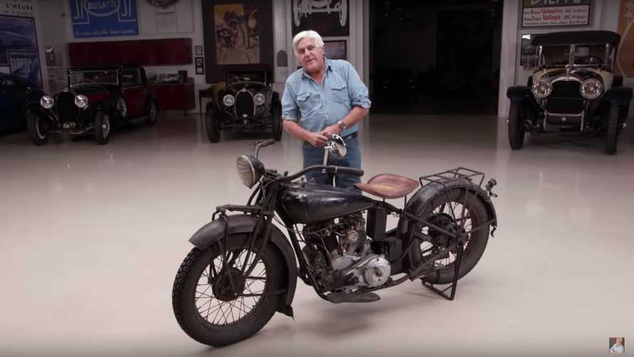 Jay Leno Takes His 90-Year-Old Indian Chief For A Ride