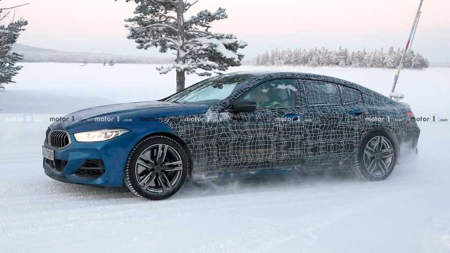 BMW 8 Series Gran Coupe spied showing snow-enhanced details
