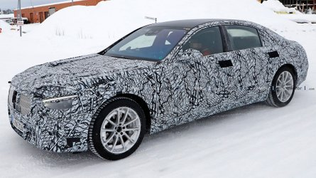 Mercedes-Benz S-Class Sedan Spied Showing Production Lights